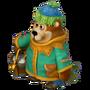 Bear with bucket deco