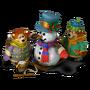 Bears with Snowman deco