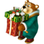 Bear with gift deco