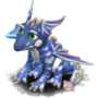 Blue dragon deco