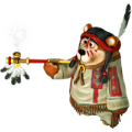 Bear with peace pipe deco.png