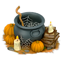 Witch's cauldron deco