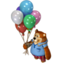 Bear with balloons deco