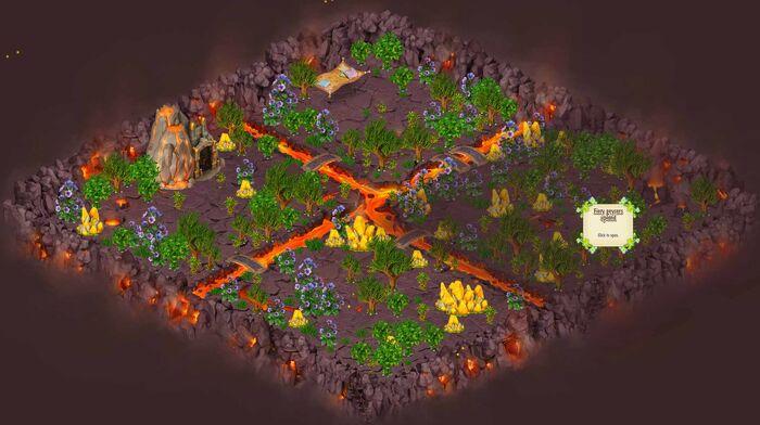 Fiery plain map