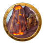 Dream icon fiery plain