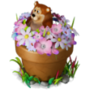 Bear in flowers deco