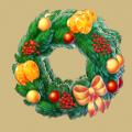 Coll newyear christmas wreath