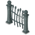 Scary fence deco