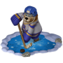 Bear hockey player deco