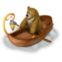 Bear in a boat deco