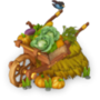 Harvest cart deco