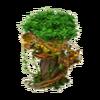 Hut on baobab