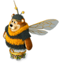 Bumblebee bear deco