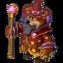 Bear sorcerer fairytale portal deco