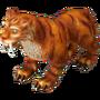 Saber-toothed tiger deco