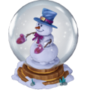 Snowman in a snow globe deco