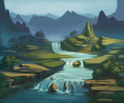 Dream illus valley of watery mists