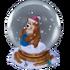 Santa in a snow globe