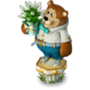 Bear with snowdrops deco