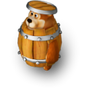 Bear in a barrel deco