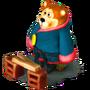 Bear in kimono deco