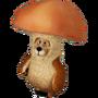 Bear mushroom deco