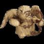 Wooden cupid deco