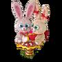 Blush bunnies deco