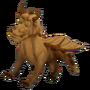 Wooden dragon deco