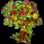 Flowery tree deco