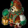 Santa's helper gift deco