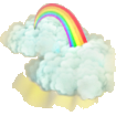 Rainbow cloud deco