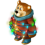 Bear with garland deco