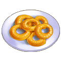 Coated onion rings