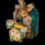 Armadillo drummer deco