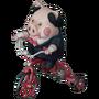 Pig on a bike deco