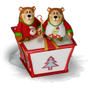 Bears with a big present deco