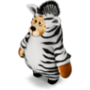 Bear zebra deco