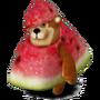 Bear watermelon deco