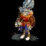 Bunny traveler deco