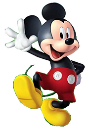 Mickey Mouse poses
