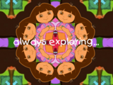 Dora the Explorer kaleidoscope promo
