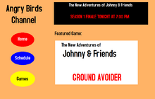 Angry Birds Channel Website Design 2011