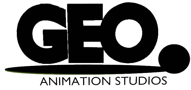 Geo Animation Studios Logo (White)