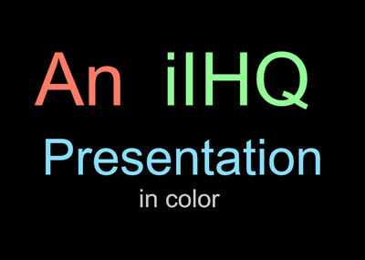 IiHQ Presentation 1959 In color