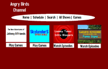 Angry Birds Channel Website Design 2012-2013