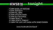 Kwsb 18 tonight lineup april 21 2016