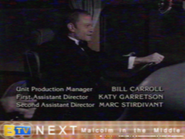 BTV Up Next Sidebar During Frasier End Credits (2000)