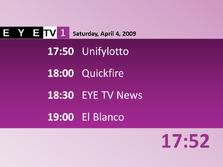 EYETV1 schedule 2009-04-04