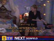 BTV Up Next Sidebar During Sabrina End Credits (1997)